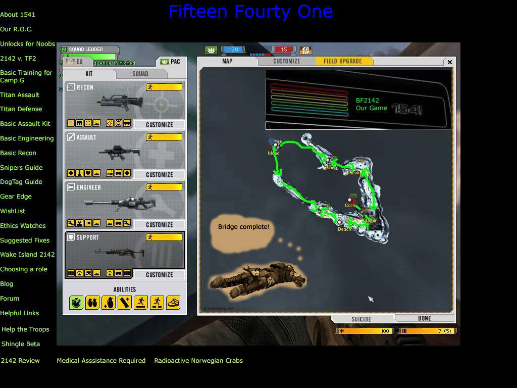 Battlefield 2142 Wake Island 2142 Beta Map Scawl created by 1541 clan
